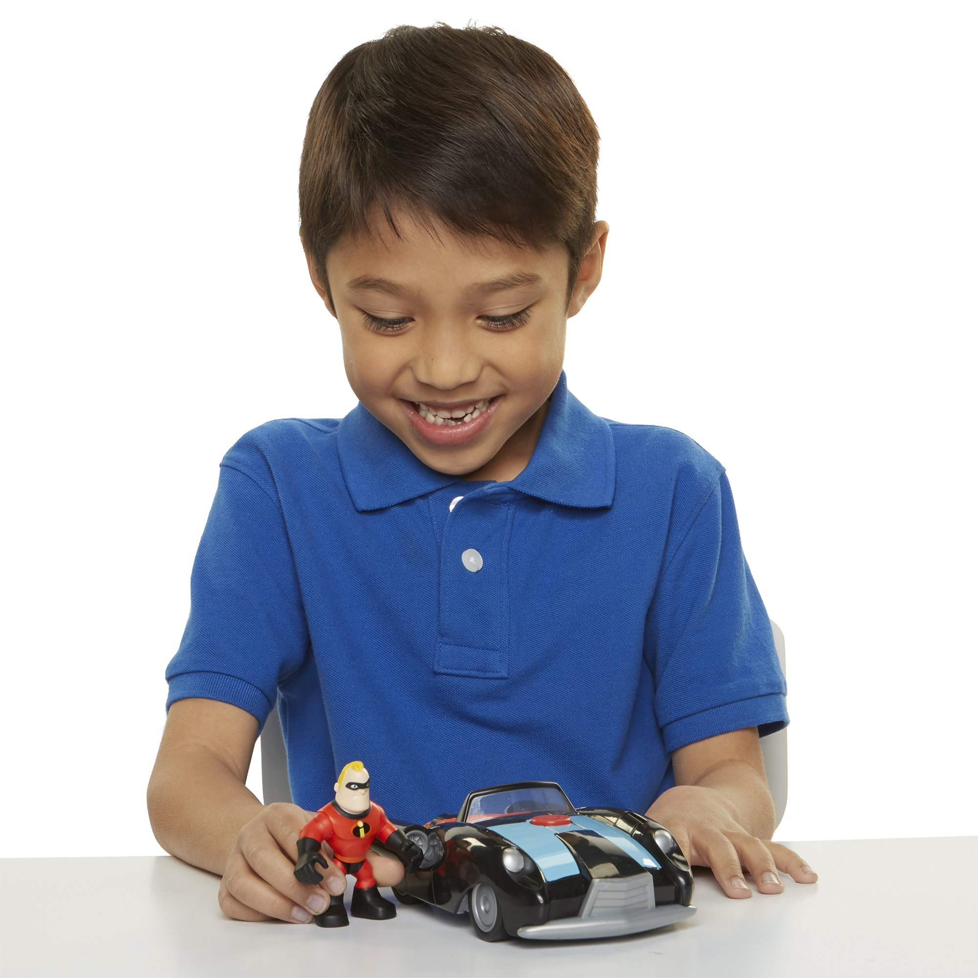 The Incredibles 2 Incredibile Car & Mr. Incredible Action Figure 2-Piece Set, Black Car and Red Mr. Incredible Figure, Medium by The Incredibles 2 (Image #9)