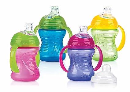 Vaso boquilla 1 unidad colores surtidos desde 4 a 12 meses Nuby 9644