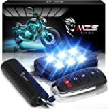MZS Motorcycle LED Light Kit Multi-Color Neon RGB Strips, Wireless Smart Remote Controller -Compatible with ATVs UTVs…