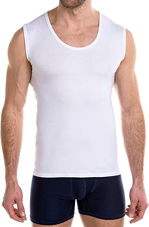 FINN - Camiseta Interior sin Mangas para Hombre con Cuello Redondo y microfibras: Amazon.es: Ropa y accesorios