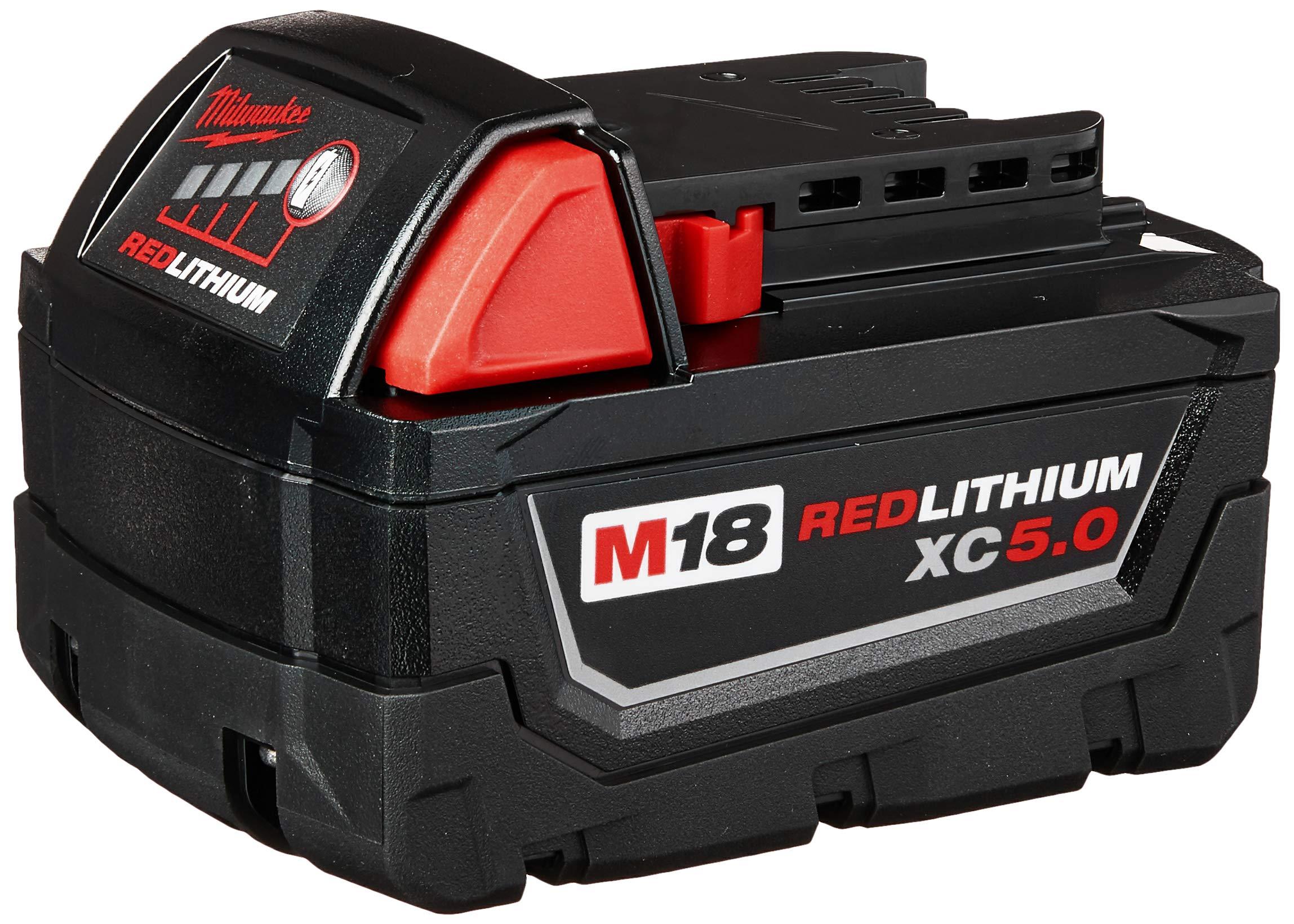 Milwaukee 48-11-1850 M18 Redlithium 5.0Ah Bat Pack by Milwaukee