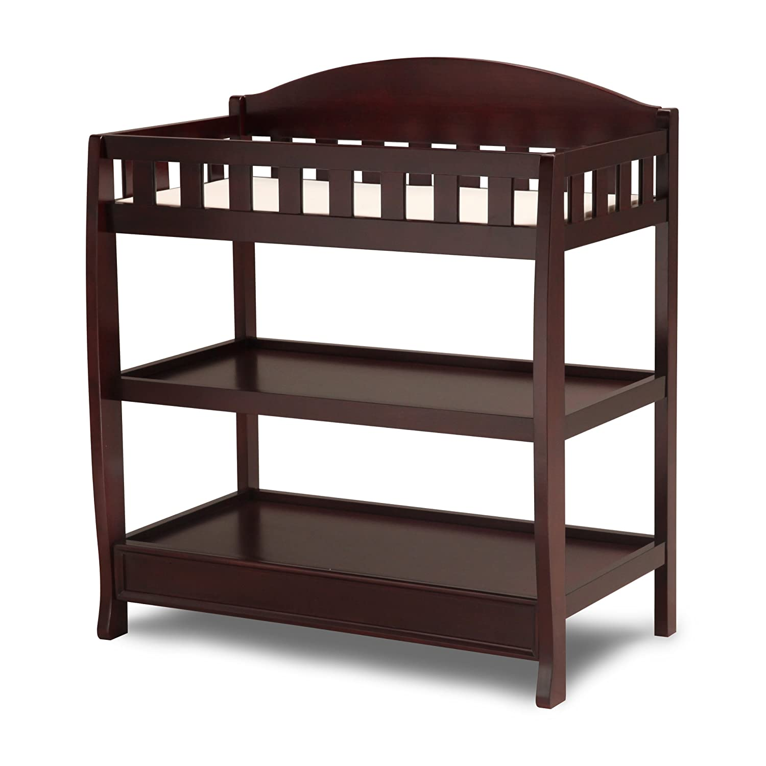 Amazon.com : Delta Children Infant Changing Table With Pad, Espresso Cherry  : Baby