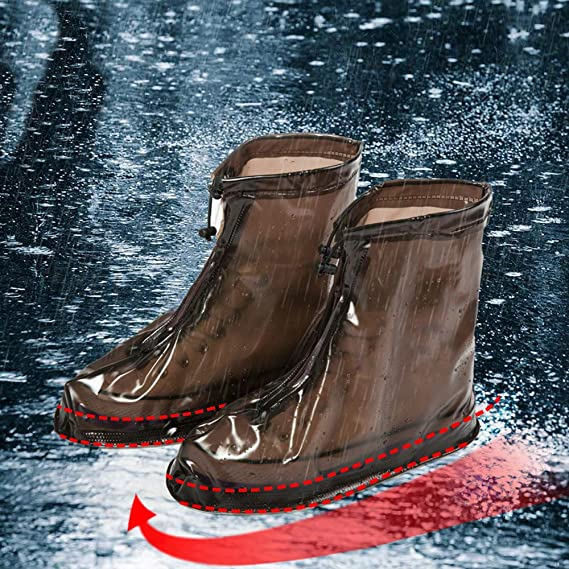 Amazon.com : Longay Unisex Waterproof Rain Shoes Reusable Boots Slip Resistant : Sports & Outdoors