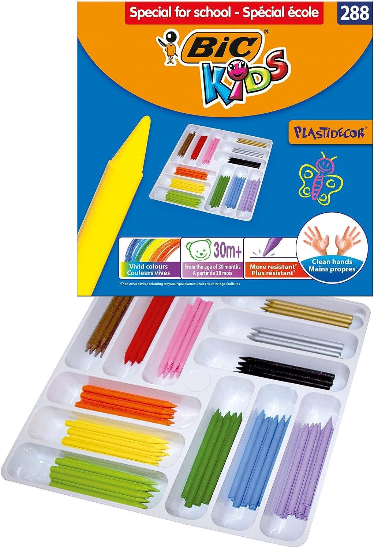 BiC Kids Plastidecor - Caja de lápices de colores (288 unidades): Amazon.es: Oficina y papelería