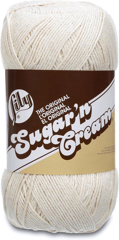 4 4 oz Machine Wash /& Dry Blue Jeans Medium Gauge 100/% Cotton Lily Sugar N Cream  Super Size Solid Yarn -