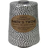 Regency Wraps RW1627BK Twine Regency Baker's Cone, 0.5 lb, Black/White