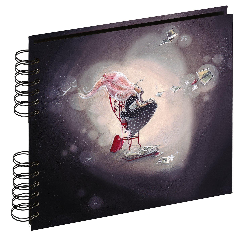 40 p/áginas, 22 x 22 cm Panodia Rachel 271043 Color Negro /Álbum de Fotos