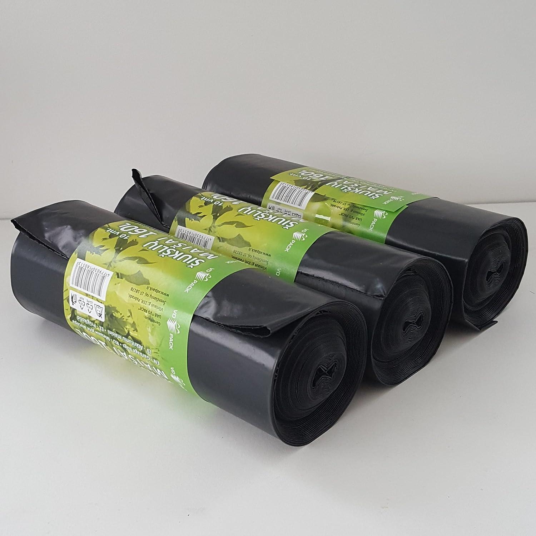 Bolsas de Basura 120L 160L 240L Resistente Bolsas de Basura Con Cord/ón Bin Liner Muy Resistente y Fuerte por Soncare 120L