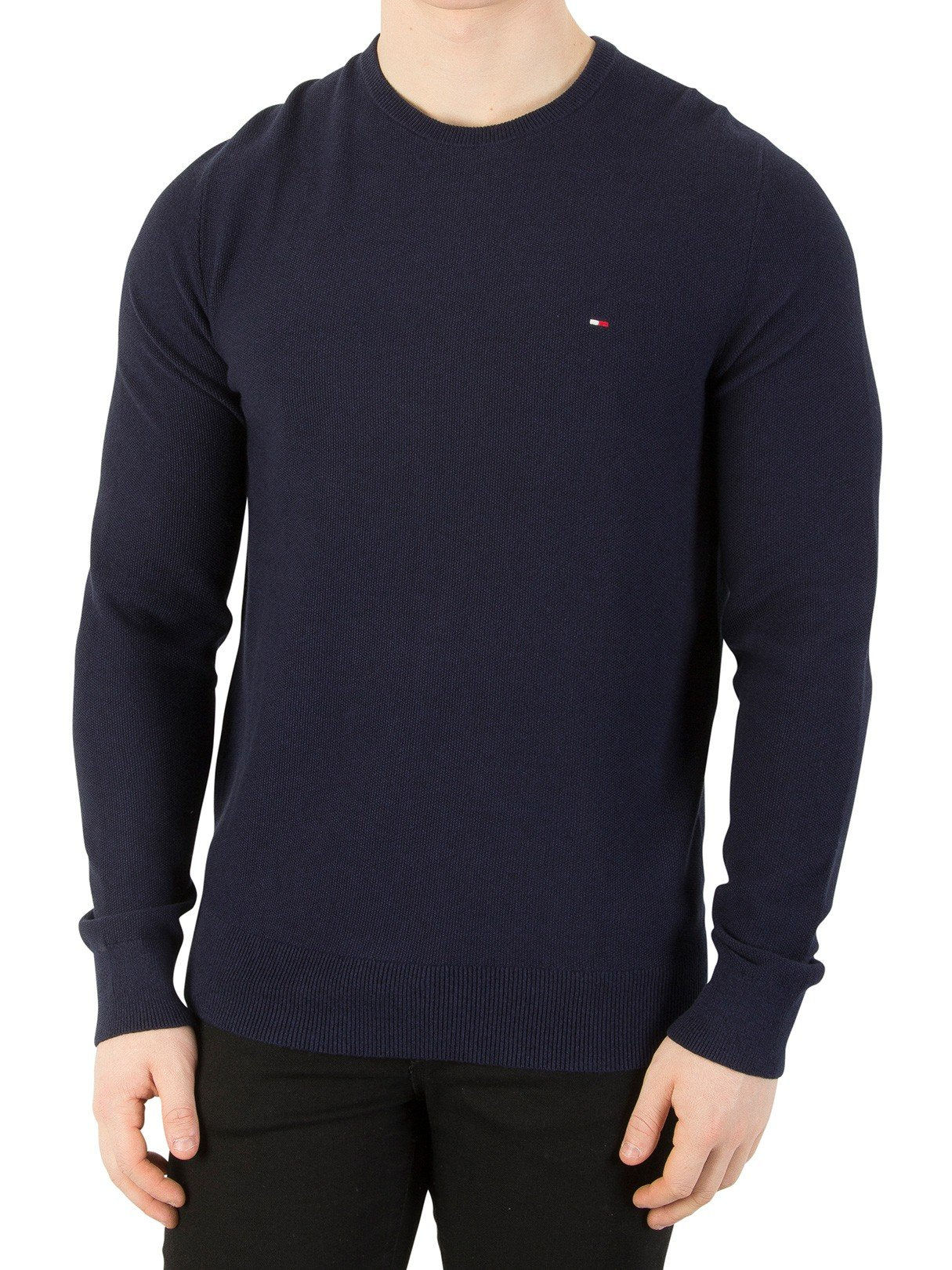 Tommy Hilfiger Men's Pre-Twisted Ricecorn Knit, Blue, XX-Large