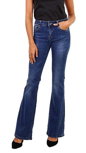 Newplay Vaqueros Bootcut Azul para Mujer Pantalones Acampanados Stretch Talla de 34 a 42
