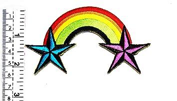 LGBT - Parche con diseño de orgullo lésbico gay con estrellas ...