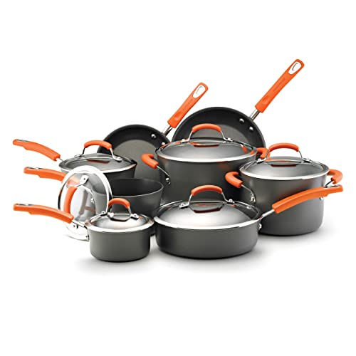 Rachael Ray Hard Anodized Nonstick Dishwasher Safe 14-Piece