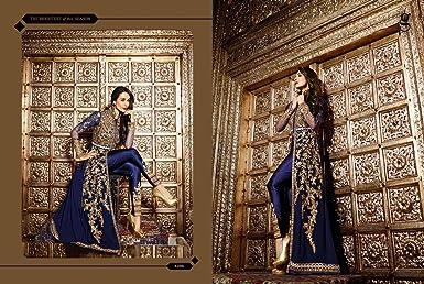 51cb304759 Amazon.com: Ready Made Malaika Bollywood Party Long Pakistani Kaftan Style  Salwar kameez Muslim Eid Women: Clothing