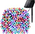Solar Lights Outdoor 72ft 200 LED Fairy Lights, Ambiance lights for Patio, Lawn,Garden, Home, Wedding, Holiday, Christmas, Xmas Tree decoration,waterproof/Timer/USB Charge (Multi-color)
