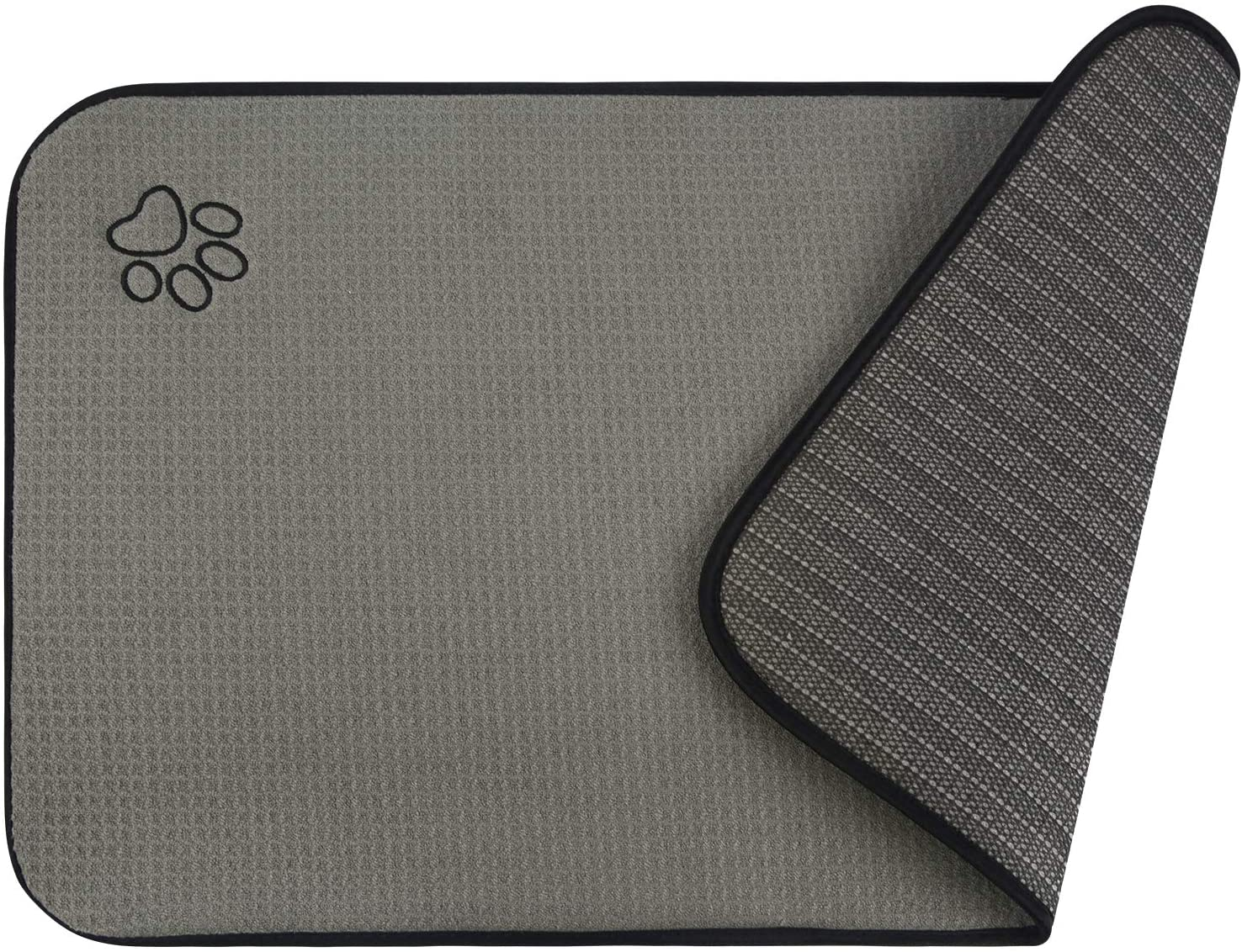 SINLAND Microfiber Pet Bowl Mat Dish Drying Mat with Anti-Skid Backing