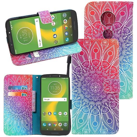 quality design 1c759 29f4c Amazon.com: Moto G6 Play Case, CimdaUS PU Leather Wallet Flip Folio ...