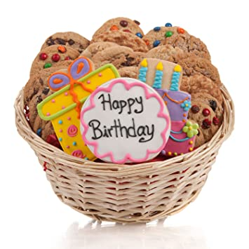 Image Unavailable Not Available For Color Happy Birthday Cookie Gift Basket