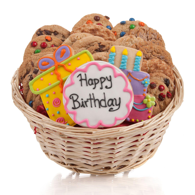 Happy Birthday Cookie Gift Basket - 24 PC.