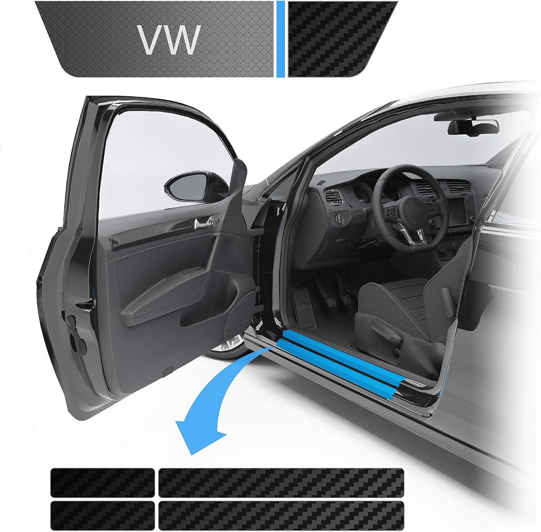 Blackshell Einstiegsleistenschutz Folie Inkl Premium Rakel Passend Für Golf Variant Limousine Typ Au Bj 2012 2019 5 Türer Carbon Matt Passgenaue Lackschutzfolie Auto