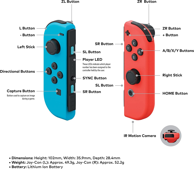 Amazon.com: Gris Joy-Con: nintendo switch: Video Games