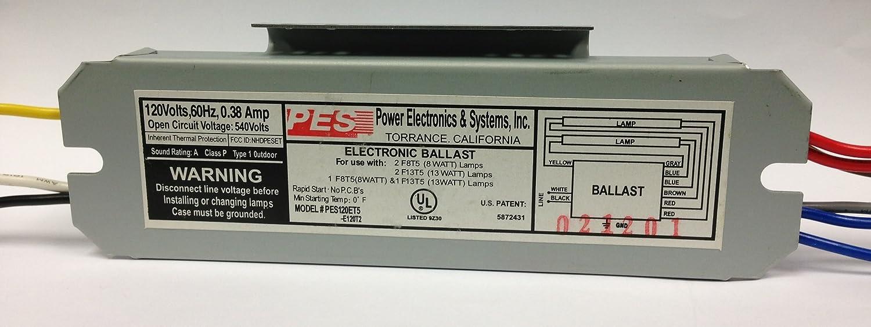 Pes 2 Lamps Fluorescent Electronic T5 Ballast 120v Pes120et5 F17t8 3light Ballasts E120t2