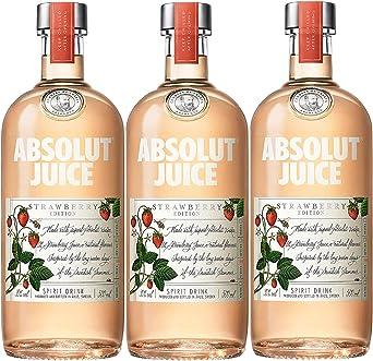 Absolut Vodka Strawberry Juice Edition - pack 3 botellas x 500 ml: Amazon.es: Alimentación y bebidas
