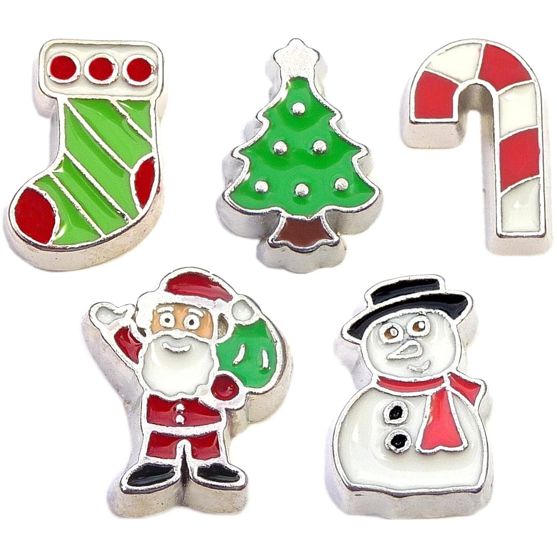 Amazon 5 floating locket charms holiday christmas gift theme amazon 5 floating locket charms holiday christmas gift theme for your living locket jewelry jeuxipadfo Gallery