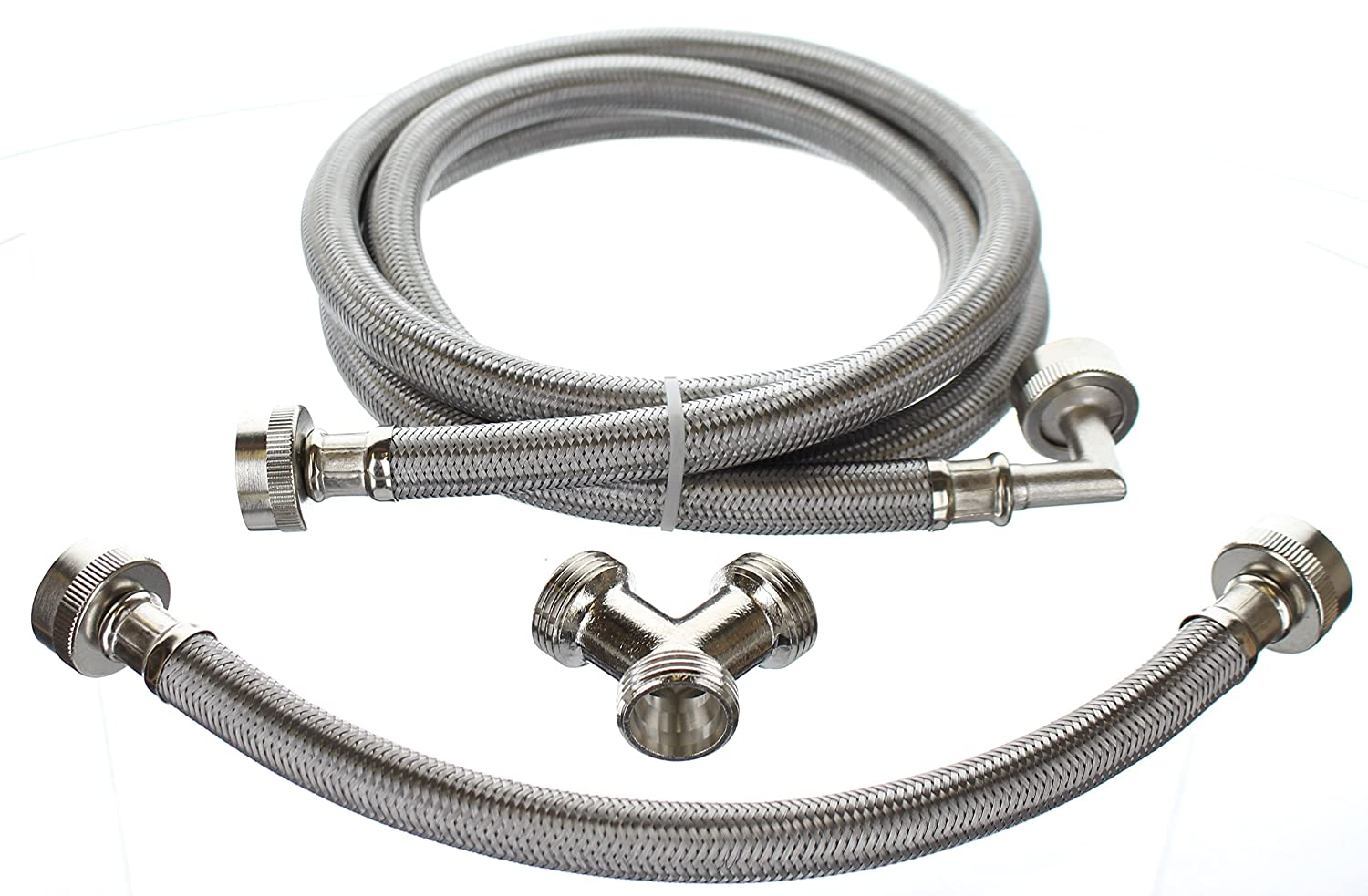 Premium Steam-Dryer Installation Kit - Braided Stainless Steel, 6 ft