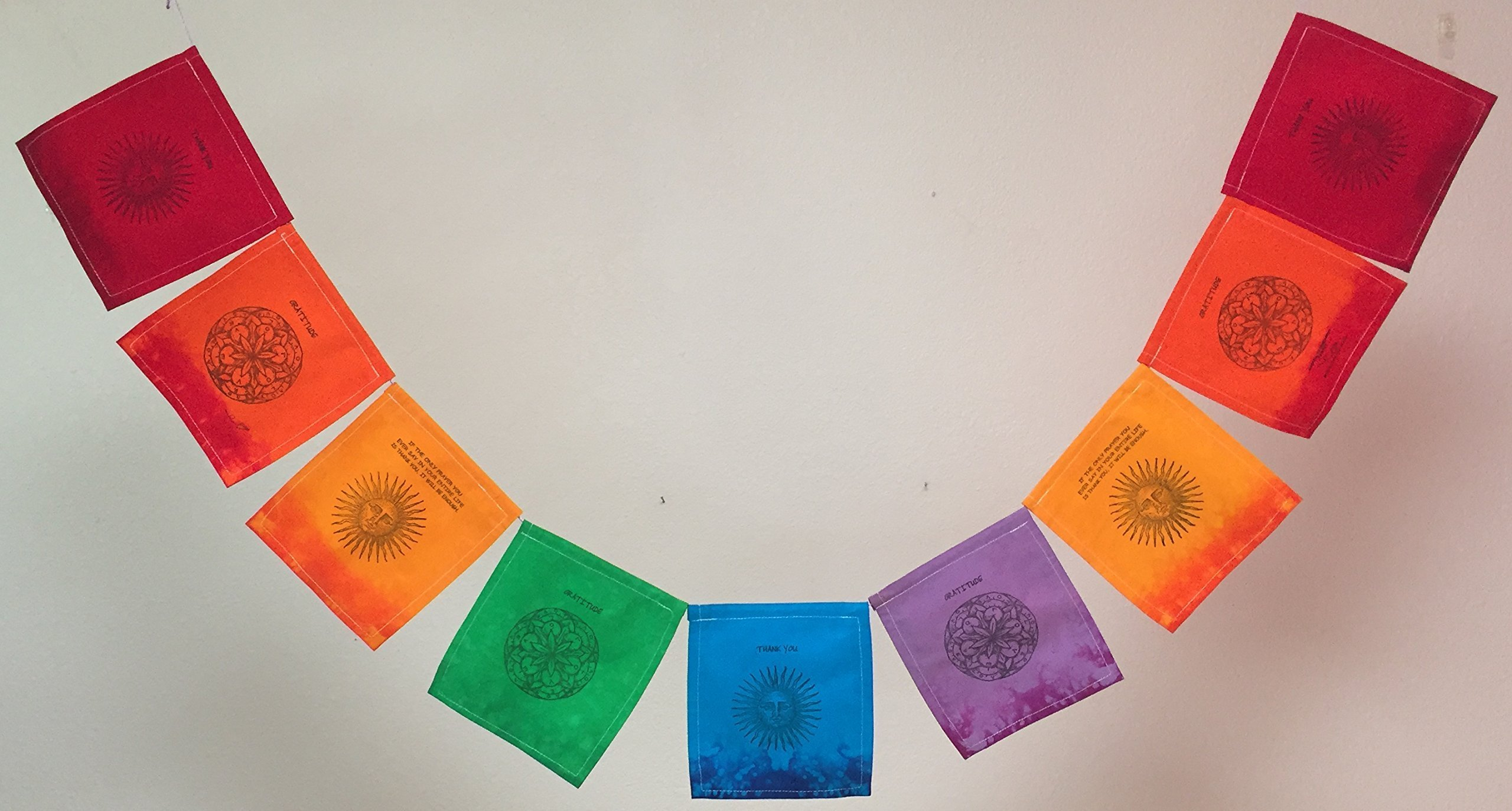 Gratitude,'Thank You' Prayer Flag. All proceeds to families in Mexico. Free domestic shipping.