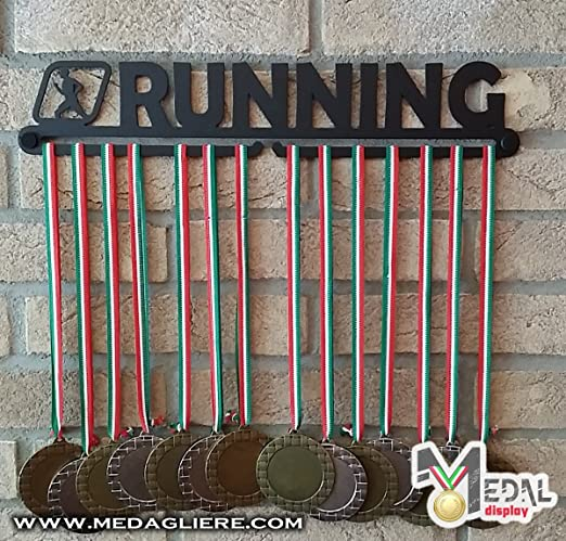 31 opinioni per Medal display, porta medaglie, medagliere da muro, medal hanger (RUNNING design)