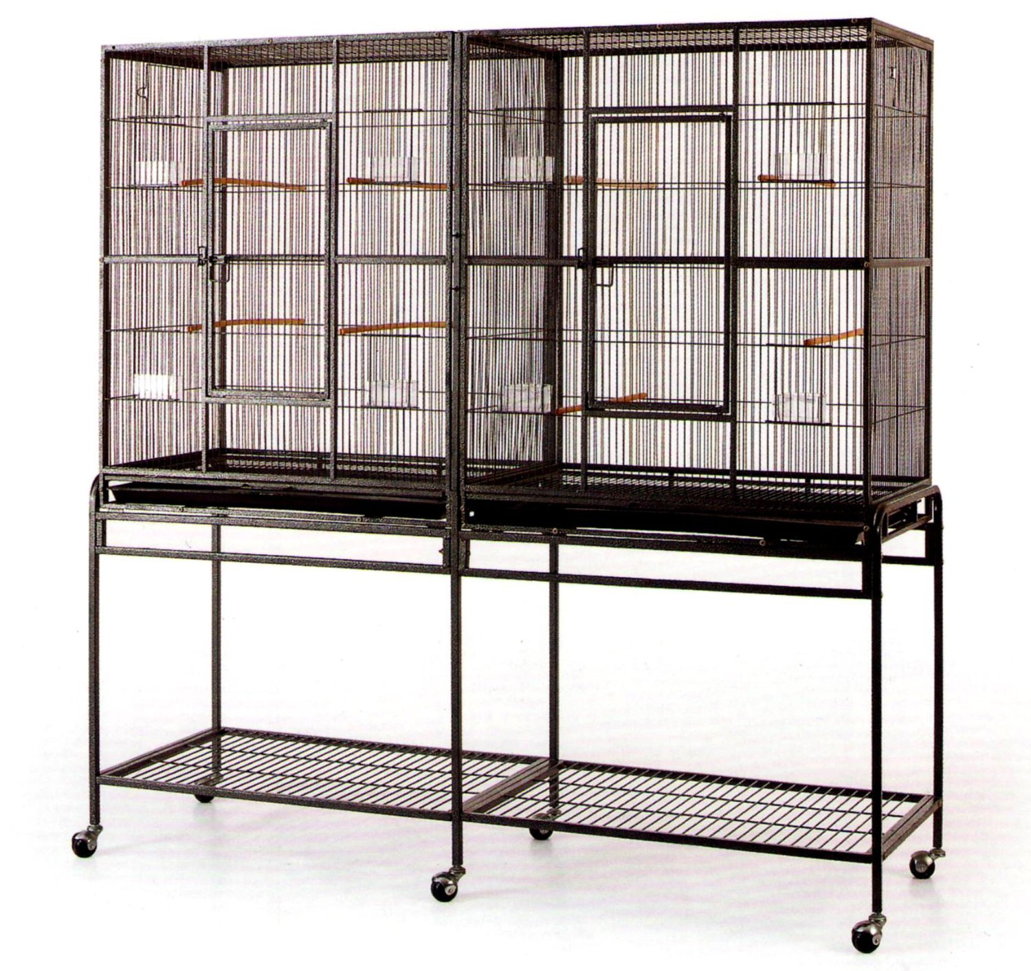 double breeding canary cages