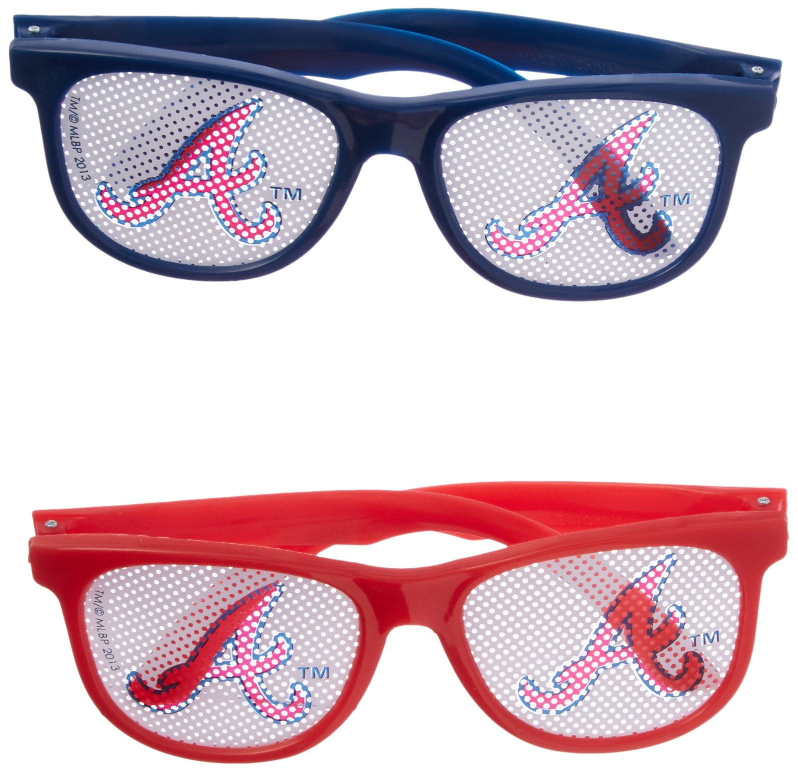 Amscan Baseball Dream Atlanta Braves Printed Glasses Party Supplies , Blue/Red, 60 Pieces