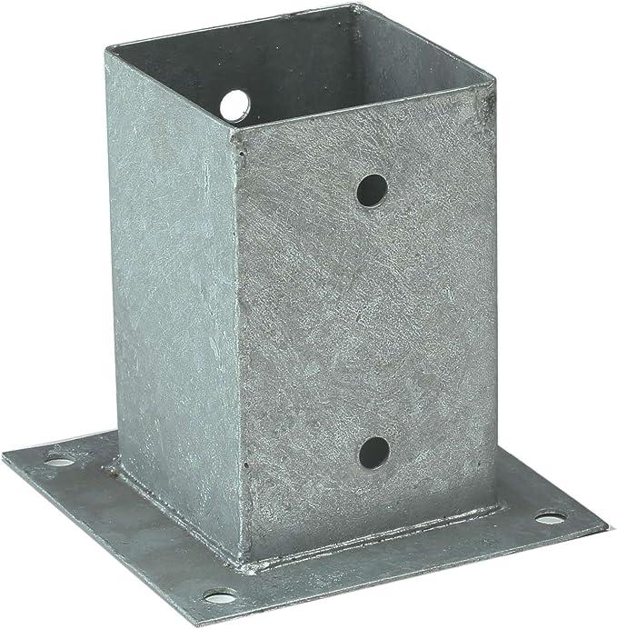 Soporte poste cuadrado, anclaje poste madera, 9 cm: Amazon.es ...