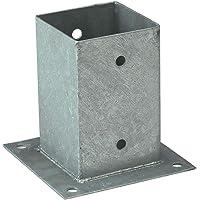 Soporte poste cuadrado, anclaje poste madera, 9 cm