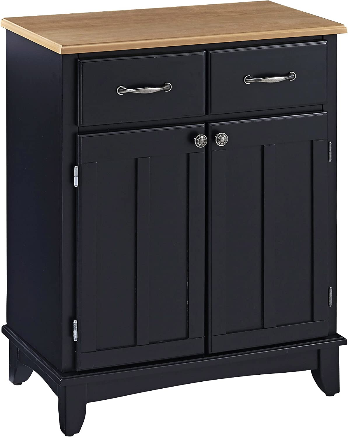 Buffet of Buffets Black with Wood Top by Home Styles