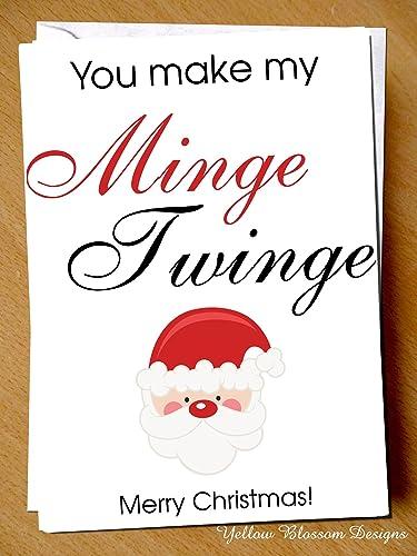 You make my minge twinge merry christmas card funny comical rude you make my minge twinge merry christmas card funny comical rude quirky alternative hilarious boyfriend husband m4hsunfo