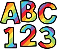 Celebrate Learning Rainbow Stripe Printable Letters, Numbers, and Symbols