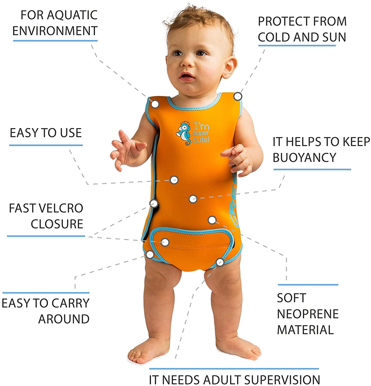 pas cher pour réduction dd83a e8ac6 Cressi - Baby Warmer Combinaison de Bain et Natation pour Bébé en Neoprene
