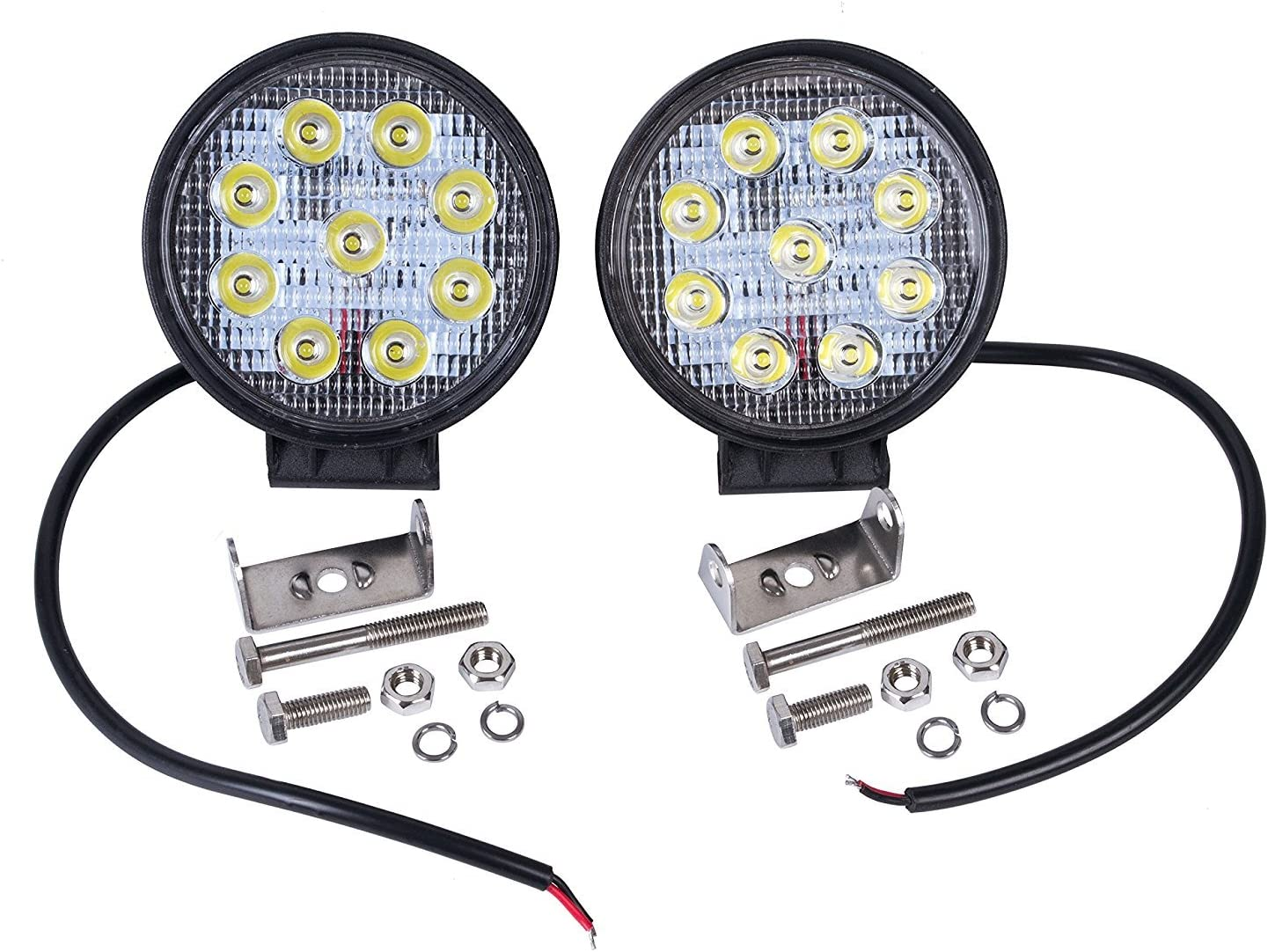 LED Headlamp 27/ W 1980 LM 10-30/ V DC LED Waterproof IP67/ Car Headlight Job Site Lighting Reversing Light