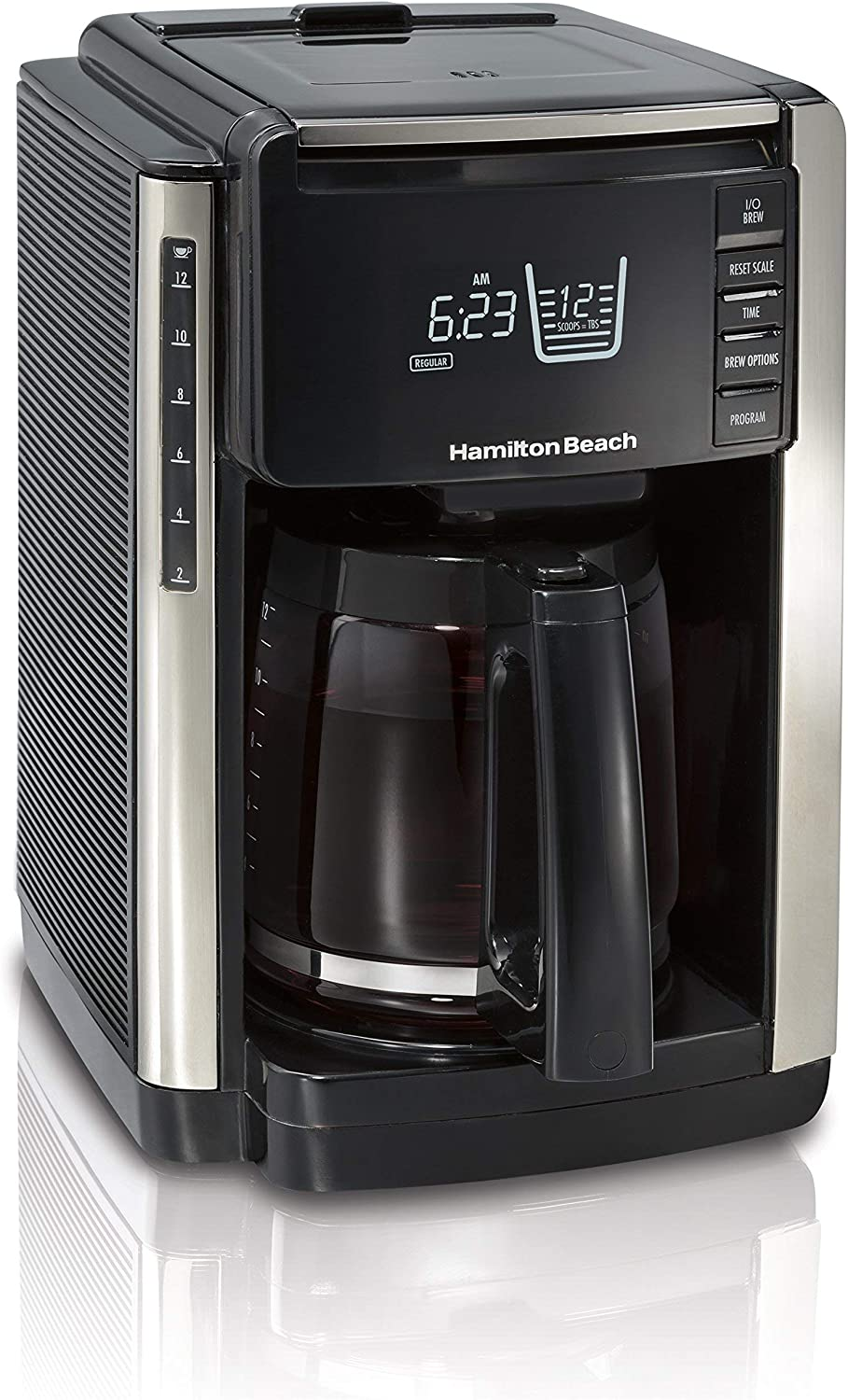 Hamilton Beach 45300R TruCount Coffee Maker, 12 Cup, Black (Renewed)