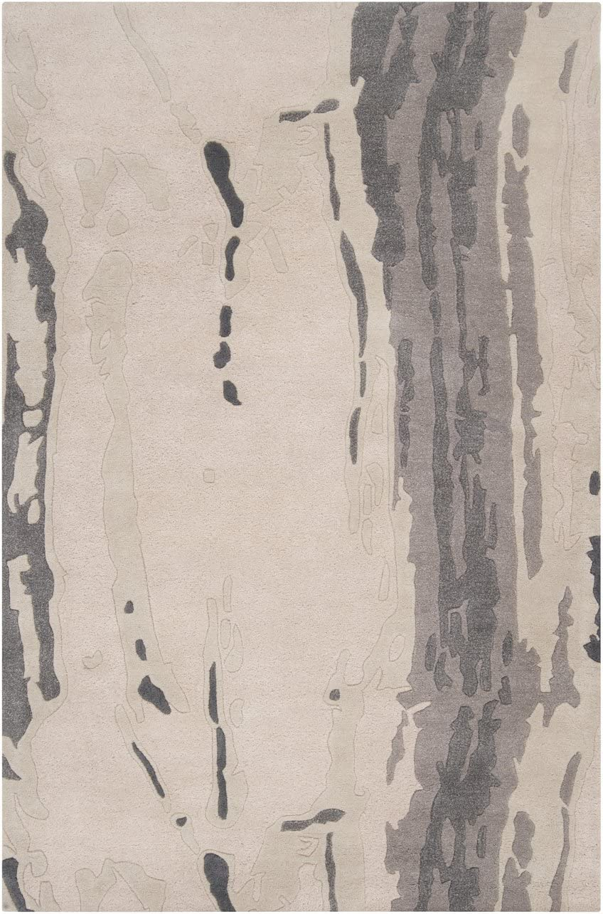 Surya CAN-1994 Modern Classics Hand Tufted Candice Olson Designer Rug, 9-Feet by 13-Feet, Winter White
