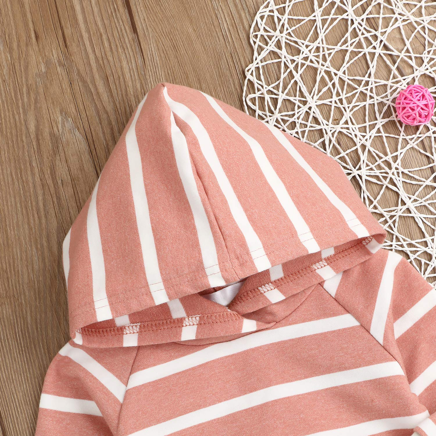 Baby Girls Boys Winter Clothes Set Long Sleeve Striped Hoodie Sweatshirt Pants Outfit Sets for Newborn Infant Toddler Babies