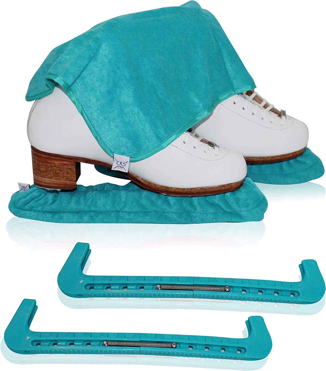 CRS Cross Skate Guards, Soakers & Towel Gift Set - Ice Skating Guards and Soft Skate Blade Covers for Figure Skating or Hockey : Sports & Outdoors