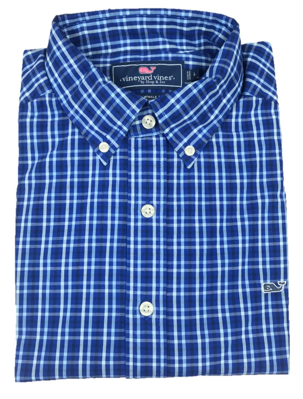 (ビンヤードバインズ) Vineyard Vines メンズ ボタンダウンドレスシャツ スリムフィット B0784WV2Z4 M|Royal Burcliffe Plaid Royal Burcliffe Plaid M