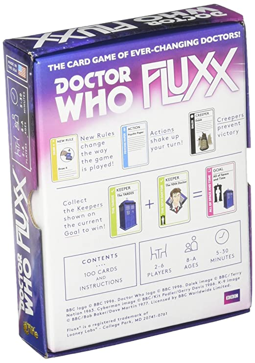 The Card Game With Ever-Changing Doctors! Looney Labs Doctor Who Fluxx
