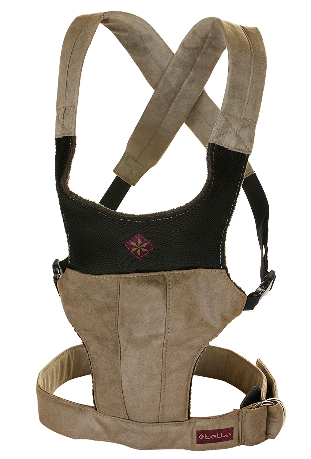 Structured Fit Baby Carrier by Belle – Khaki Microsuede