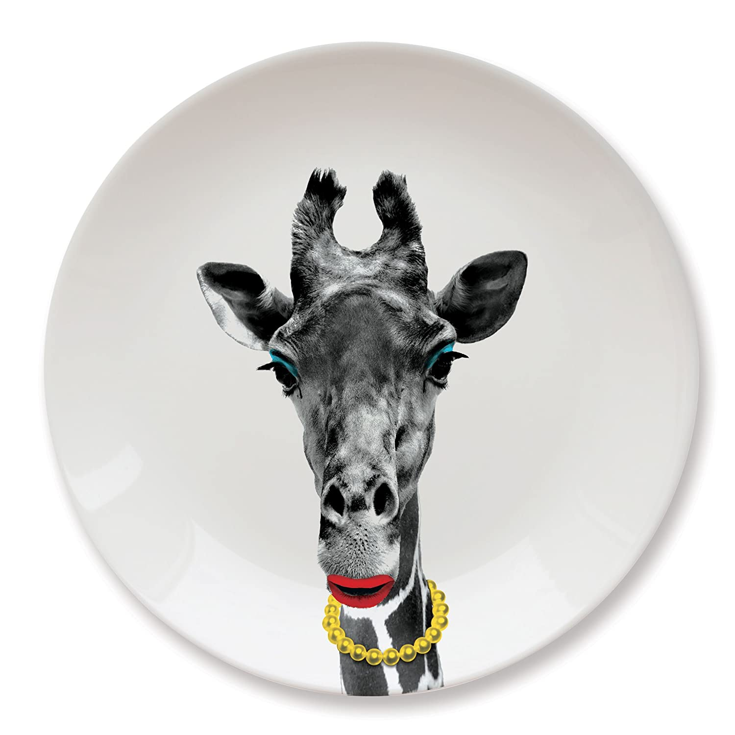 MUSTARD Ceramic Dinner Plate I Dishwasher safe I Dinnerware - Wild Dining Giraffe