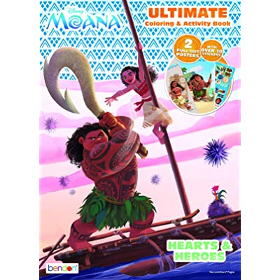 Bendon 40436 Disney Moana Ultimate Activity Poster Book: Toys & Games