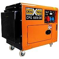 Cross Tools 68036 CPG 6000 DE Diesel Stromerzeuger Stromaggregat Generator, E-Start, 4,6 kW