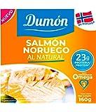 DUMON - NUEVO - 12 unidades de 160 gramos de Conservas de Salmón Noruego en Su Propio Jugo, Sin Espinas ni Piel. 28…